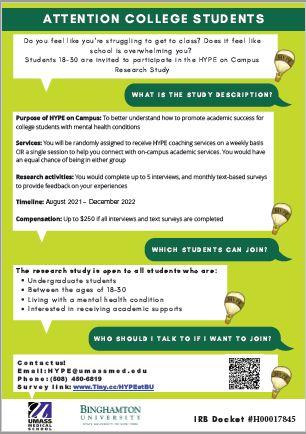 Flyer describing HYPE on Campus. Link below.